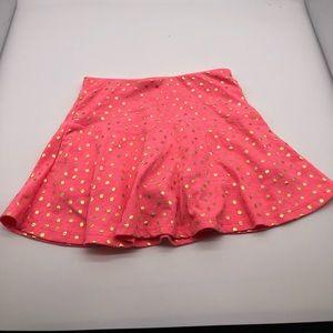 Girls Pink w/Gold polka dot skirt S6